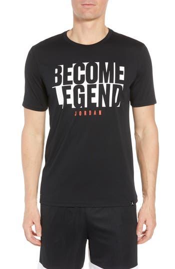 Nike Jordan Become Legend Graphic T-Shirt, Black