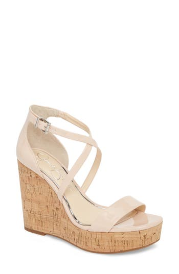 Jessica Simpson Stassi Cross Strap Wedge Sandal, Pink