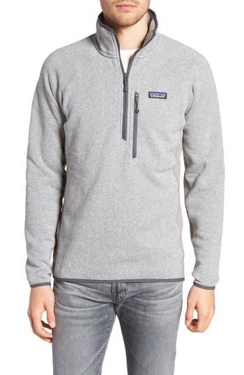 Patagonia Better Sweater Performance Slim Fit Quarter Zip Jacket, Grey