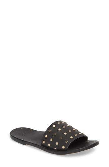 Women's Beek Lovebird Studded Slide Sandal, Size 11 M - Black