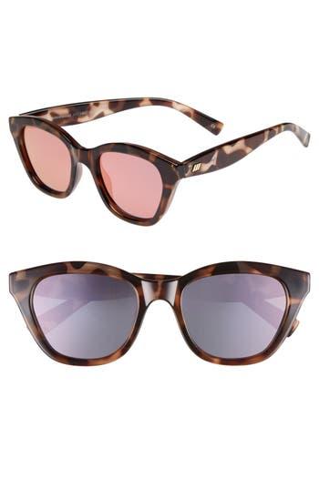 Le Specs Wannabae 4m Angular Sunglasses - Volcanic Tort