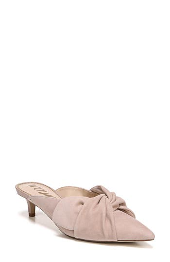 70c18cad9e3 Sam Edelman Laney Pointy Toe Mule In Dusty Rose Suede