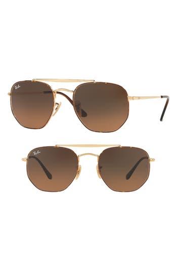 Ray-Ban Marshall 51Mm Aviator Sunglasses - Havana Gradient
