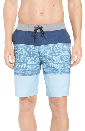 Quiksilver Waterman Collection Liberty Triblock Board Shorts, Blue
