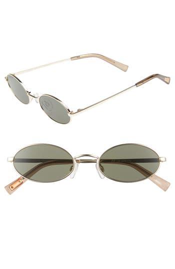 Le Specs Love Train 51Mm Oval Sunglasses - Bright Gold