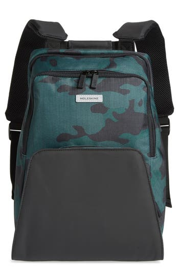 Moleskine Nomad Water Resistant Backpack - Green