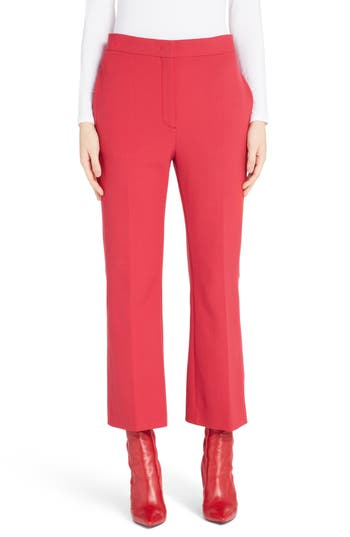 Fendi Stretch Drill Crop Flare Pants, US / 40 IT - Red