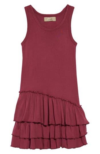 1920s Children Fashions: Girls, Boys, Baby Costumes Toddler Girls Peek Tiered Tank Dress Size 3T - Burgundy $28.50 AT vintagedancer.com