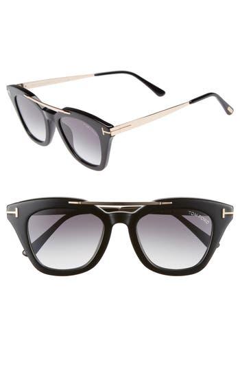 Tom Ford Anna 4m Gradient Sunglasses - Black Acetate/ Rose Gold