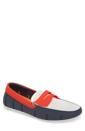 Swims Washable Penny Loafer, Blue