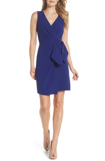 Eliza J Bow Sheath Dress, Blue