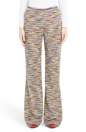 Missoni Knit Flare Pants, 6 IT - Black