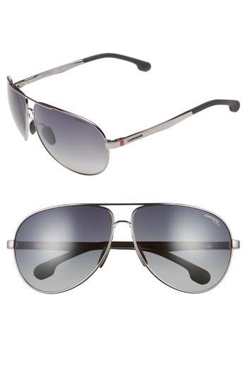 Carrera Eyewear 65Mm Polarized Aviator Sunglasses - Ruthenium