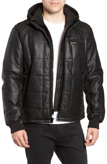 Members Only Quilted Convertible Vest/jacket, Black
