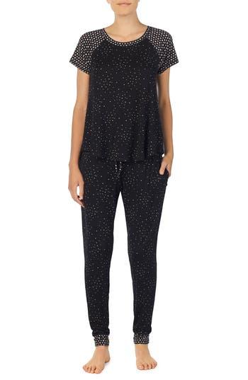 Room Service Jersey Pajamas, Black