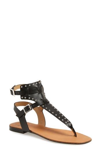 Black Suede Studio Lexi Sandal, Black