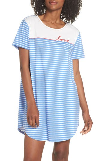 Ed Ellen Degeneres Sleep Tee, Blue