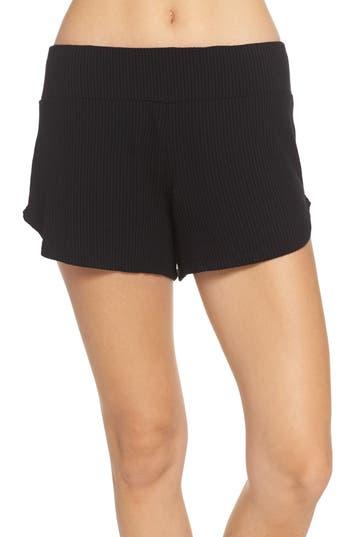 Eberjey Elon Track Pajama Shorts, Black