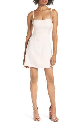 French Connection Whisper Light Sweetheart Minidress, Pink