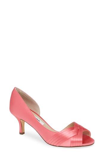 Nina Contesa Open Toe Pump, Pink