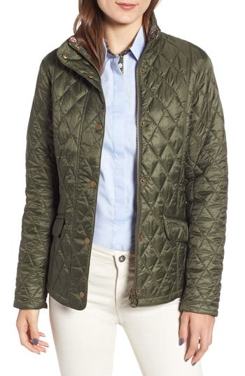 Barbour X Liberty Victoria Quilted Jacket, US / 8 UK - Green