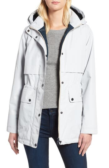 Barbour Altair Waterproof Hooded Jacket, US / 10 UK - White