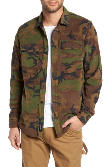 Vans Hillcrest Fleece Shirt Jacket, Green
