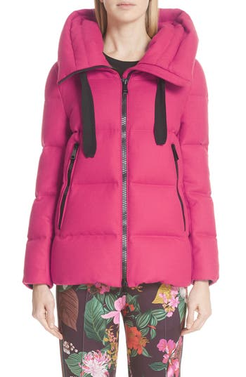Moncler Serin Hooded Down Jacket, Pink