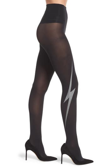 Spanx Glow In The Dark Lightning Bolt Shaping Tights