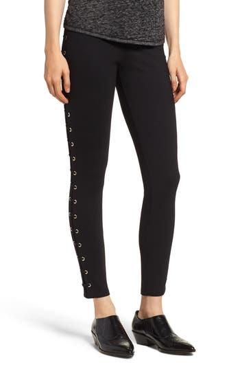 Lysse High Waist Whipstitch Leggings, Black