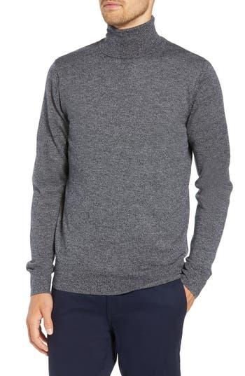 Bonobos Slim Fit Turtleneck Merino Wool Sweater, Grey