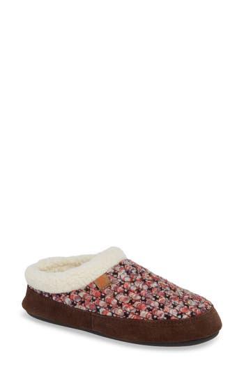 ACORN The Jam Mule Slipper, Raspberry Fabric