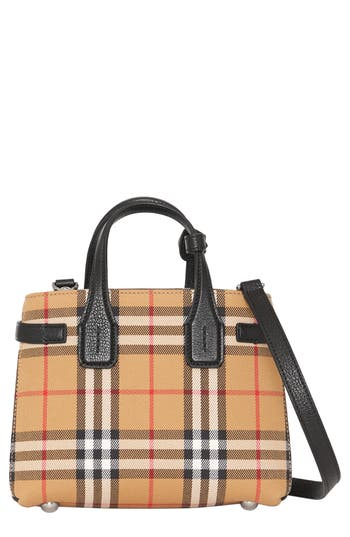 Burberry Baby Banner Vintage Check Tote - Black