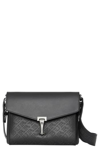 Burberry Small Macken Perforated Leather Crossbody Bag - Black
