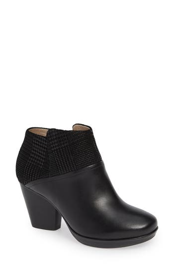 Dansko Miley Burnished Leather Bootie-6- Black