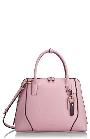 Stanton Janet Leather Dome Satchel Briefcase - Pink