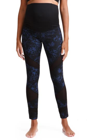 Ingrid & Isabel Active Maternity Leggings, Blue