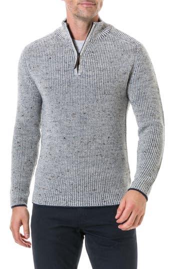 Rodd & Gunn Slope Hill Wool Sweater, Brown