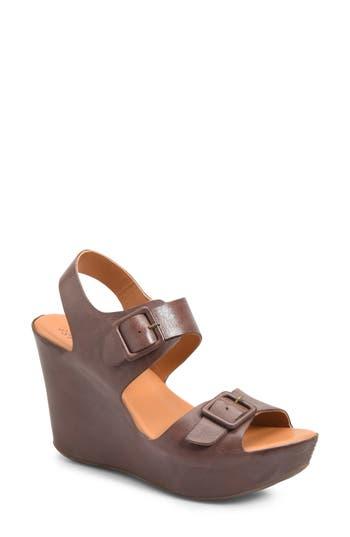 Kork-Ease Susie Wedge Sandal, Brown