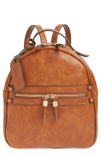 Sole Society Zypa Faux Leather Backpack - Brown