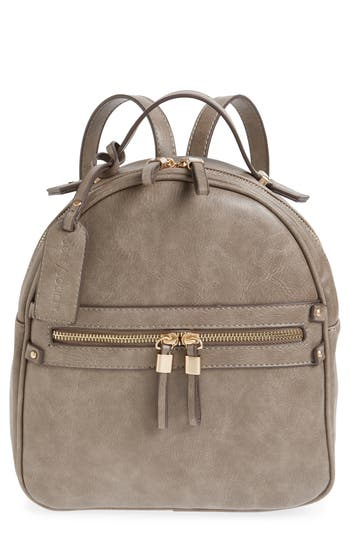 Sole Society Zypa Faux Leather Backpack - Grey