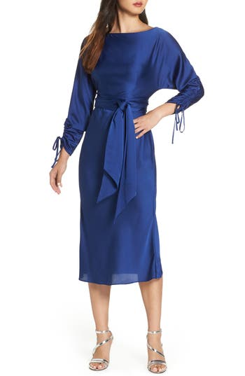 Keepsake The Label Uncovered Midi Dress, Blue