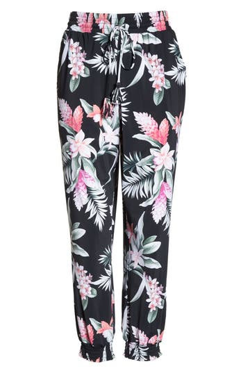 Tommy Bahama Ginger Flowers Cover-Up Pants, Black