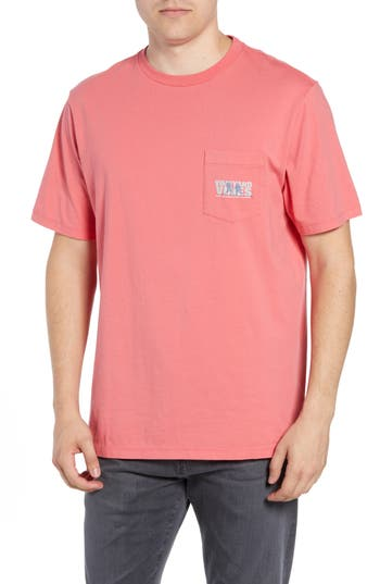 Vineyard Vines Knockout Lacrosse Pocket T-Shirt, Red