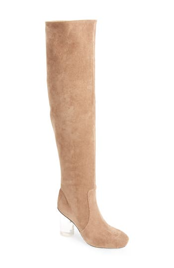 Jeffrey Campbell Perou-Lh Over The Knee Boot, Brown