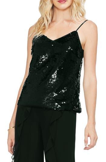 Fish-Scale Sequin Camisole in Rich Black