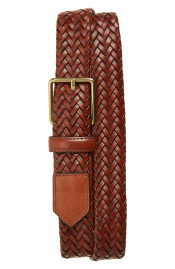 Cole Haan Woven Leather Belt, Woodbury