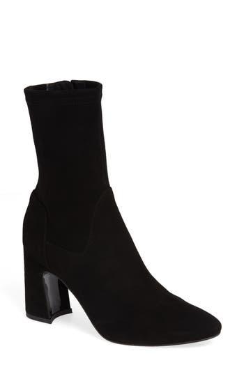 Aquatalia Nastasia Stretch Suede Boot- Black