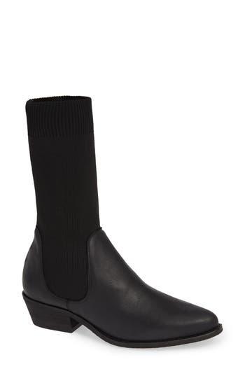 Free People Merritt Western Sock Boot, Black