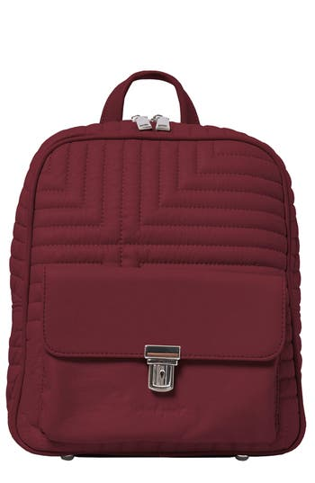 Essential Vegan Leather Backpack - Purple, Plum